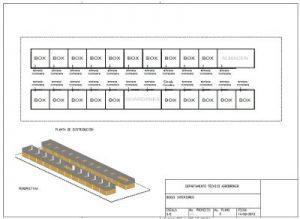 Plano de distribución de boxes de interior