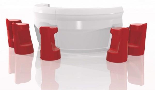 muebles de resina de fabricación y diseño italianos