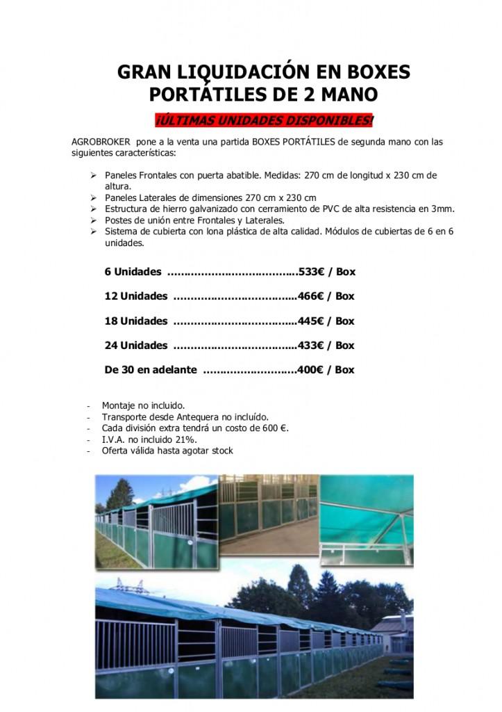 liquidación BOXES PORTATILES USADOS