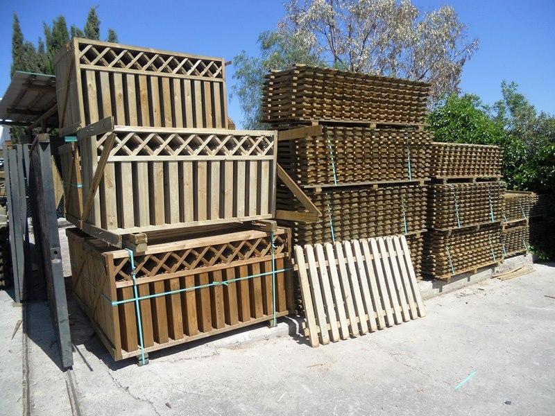 Vallas de madera para jardín