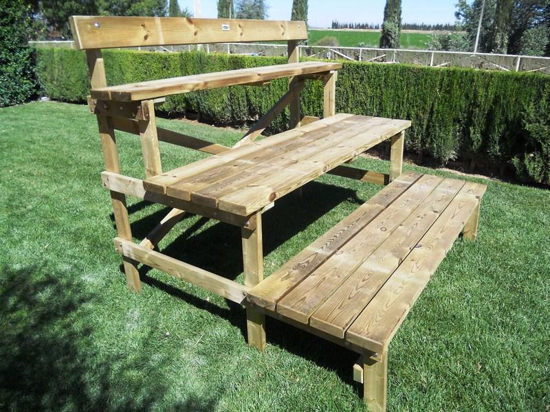 Grada de madera tratada 3 alturas