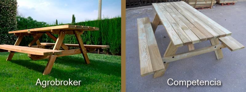 Comparativa mesas picnic