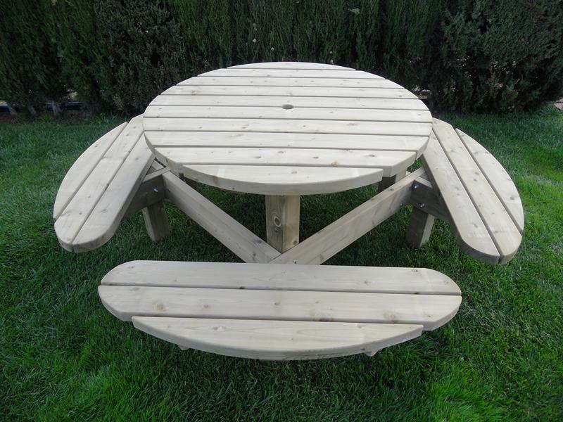 Mesa de picnic redonda