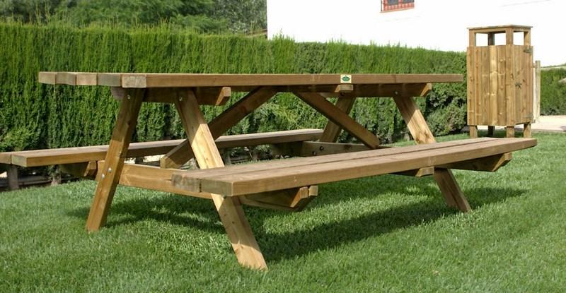 Mesas de madera tratada en oferta agrobroker - Madera de pino tratada ...