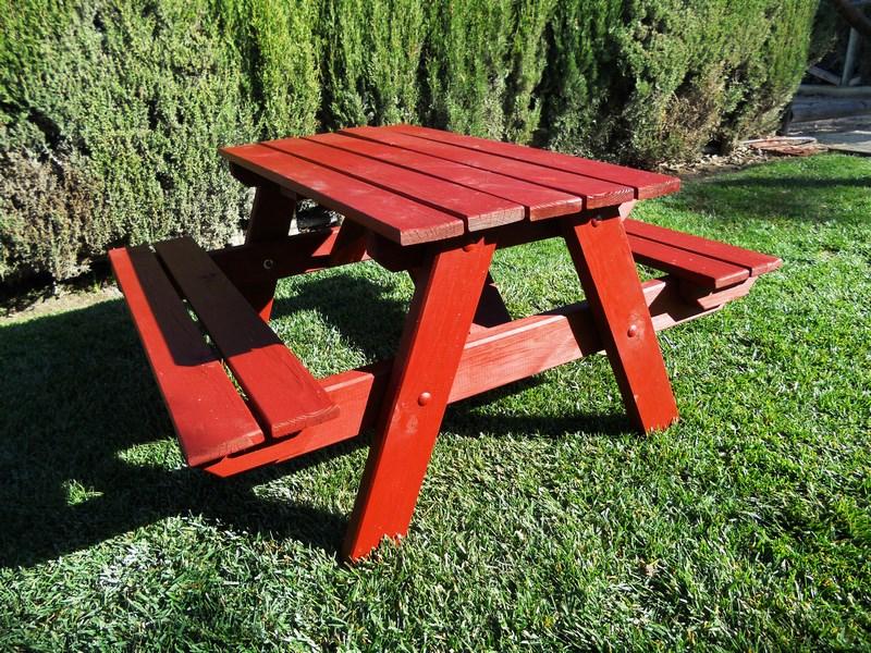 Mesa de picnic de Agrobroker en color rojo